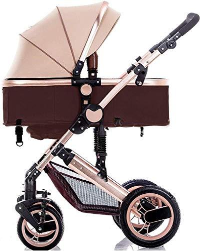 Sillas de paseo Cochecito infantil del carro portátil cochecito de bebé, cochecito de niño reversible Con resistente a los golpes Cochecito de niño recién nacido y del niño plegable antichoque Carrito