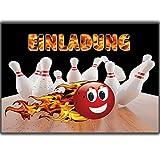 12 Bowling-Einladungen Set Gebur...