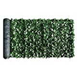 ColourTree 4' x 10' Artificial Hedges Faux Ivy Leaves Fence Privacy Screen Cover Panels Decorative Trellis - Mesh Backing - 3 Years Full Warranty