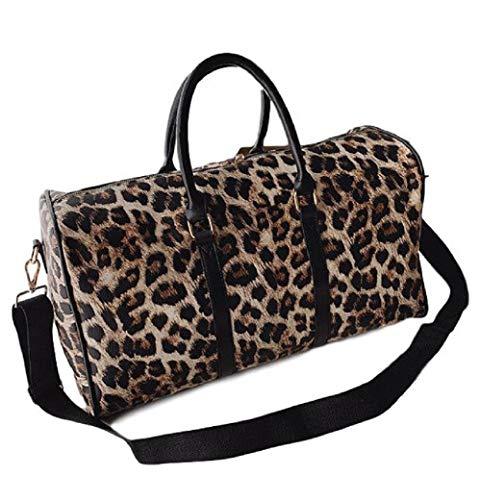 Ro Rox Leorah Borsone Borsa Weekend Palestra Leopard Donna Punk Scuola - Marrone