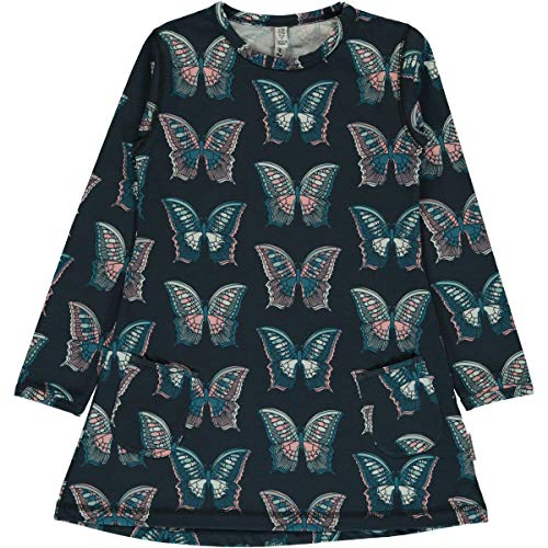 Maxomorra Mädchen Tunika Kleid mit Schmetterlingen Butterfly (122/128)
