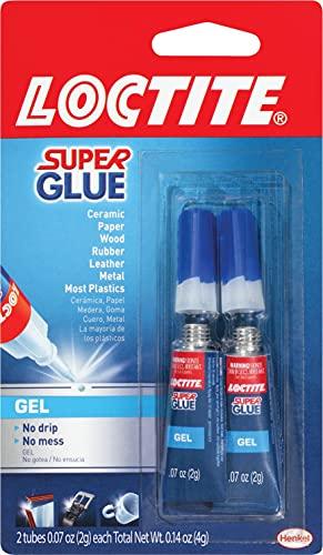 Loctite Super Glue Gel, Two 2-Gram Tubes (1399965), 2 Pack