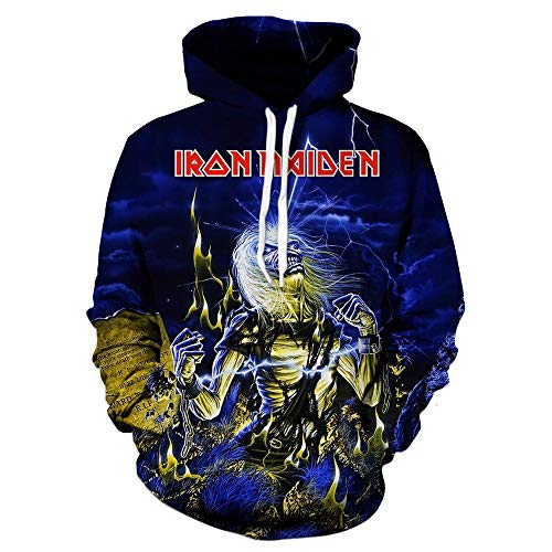 Unisex Iron Maiden Sudaderas Suéter Manga