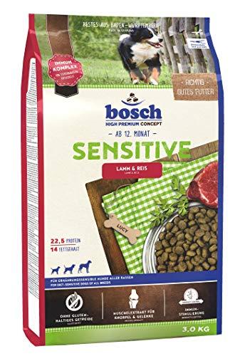 bosch HPC Sensitive Lamm & Reis | Hundetrockenfutter für ernährungssensible Hunde aller Rassen | 1 x 3 kg