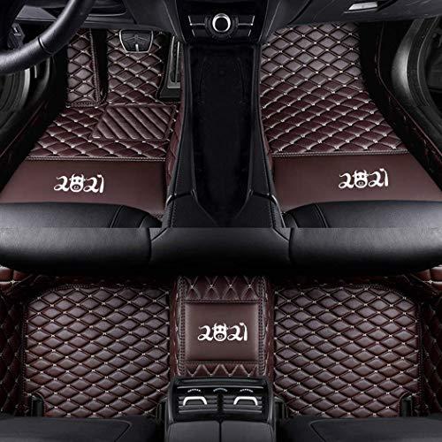 Tapis de Sol,sur Mesure pour 95% Modèle de Voiture,pour SUV Van&Truck Sedan Convertible Wagon Coupe Tapis de Voiture Kit, Imperméable Antidérapant Tapis Café Couleur