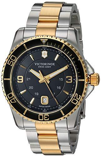 Victorinox Maverick Swiss-Quartz Watch with Two-Tone-Stainless-Steel Strap, 21.5 (Model: 241824)