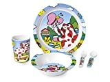 Lulabi Pimpa Confezione Pappa Bimbo in Melammina, 5 Pezzi, Multicolore