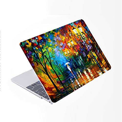 SDH for MacBook Pro 15 inch Case with CD-ROM 2010-2012 Released, Plastic Pattern Cover Hard Protective Shell & Keyboard Cover Only Compatible for Mac Pro 15 inch Model A1286, Landscape Painting 11