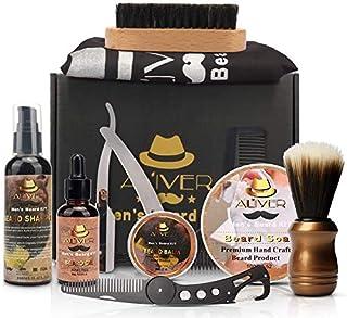 11PCS Beard Grooming Kit, Anself All-in-one Beard Care Kit Beard Shampoo,Beard Growth Oil,Beard Balm,Barber Beard Brush,Be...