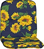 Beo Sitzkissen Niedriglehner Polster Gartenstuhlkissen Sonnenblumen blau