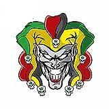 A/X 13 cm 12,2 cm Pegatinas y calcomanías para Coche para Joker Marihuana gráficos Circulares Vinilo Impermeable