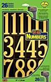 Hy-Ko Products MM-5N Self Adhesive Vinyl Numbers 3' High, Black & Gold, 26 Pieces