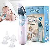 Baby Nasensauger, Ultpeak Elektrischer Nasenreiniger & Ohrenschmalz-Entferner mit 4Größen wiederverwendbarem Rotzsauger für Neugeborene, Kleinkinder und Säuglinge