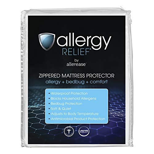 Allergy Relief by AllerEase Zippered Mattress Protector,...