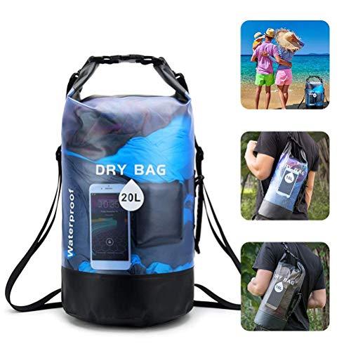 Dry Bag – 10 L 20 L impermeable Packsack Waterproof Dry Bag Bolsa para playa, canoa, Stand Up Paddling, senderismo, kayak, buceo, barco, barco hinchable, pesca, natación, vela, surf