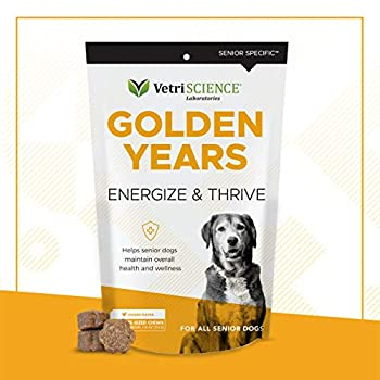 VetriScience Golden Years Energize and Thrive Multivitamin for Senior Dogs Chicken Liver 60 Soft Chews - Vitamins and Essential Minerals - Suitable for Sensitive Diets