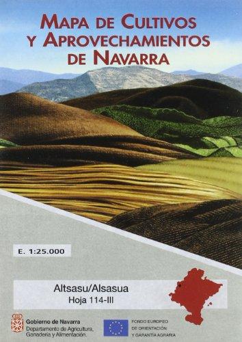 Altsasu/Alsasua. Mapa de Cultivos y Aprovechamientos de Navarra. Hoja 114-Iii