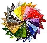 Lizzy® - Bandana, linea: Plain & Paisley Multicoloured 56x 56 cm