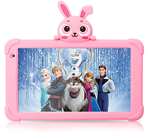 Kids Tablets Android Tablet for Kids 7 inch WiFi Toddler Tablet 1G+16GB Quad Core Kids Tablets Support Bluetooth Camera Support Netflix YouTube Parental Control 4000mAh (Pink)