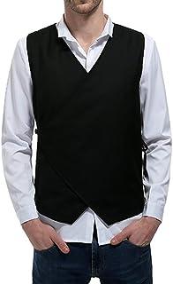 Men's V Neck Waistcoat Basic Color Waistcoat Solid Modern Casual Waistcoat Slim Fit Wedding Blazer Leisure