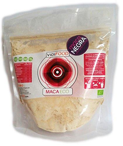 Polvere Biologica Cruda di Maca Nero - 1kg - Fonte Ricca di Amminoacidi, fibre & Vitamine - 100{c503e40ccf873bd3b4dc2e1cf7444465c3365d0b3b42371915ef6bd4e7a386dd} Naturale & Senza Tossine - Massa Magra & Recupero, Aumenta l\'Energia & I Livelli degli Ormoni
