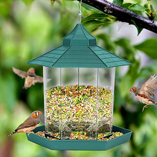 Wild Bird Feeders for Outside HangingBird Seed for Outside Feeders for Garden Yard Outdoor Decoration Green