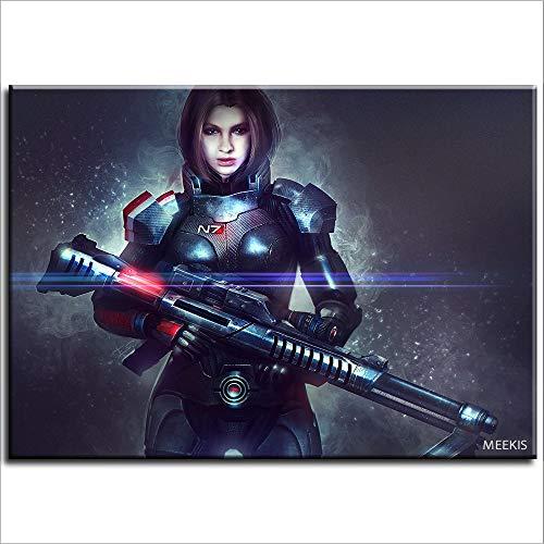 Pintura de bricolaje Mass Effect Andromeda Beauty Kit de numeración de personajes y cumpleaños de niños 40X50 (sin marco)