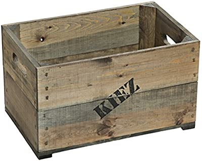 Wald Imports 7017 Decorative Crate Gray