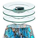 D/S (AAA Glass Grade) 4.5' Scentsy Replacement Oil Wax Warmer Dish Plate Tray Glass Melt Lid Liner Bowl Tart Burner -3 Units