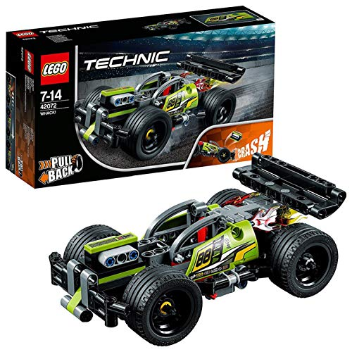 LEGO 42072 Technic WHACK Racing Car Toy with Powerful Pull-Back Motor, High-Speed Action Vehicles Building Set
