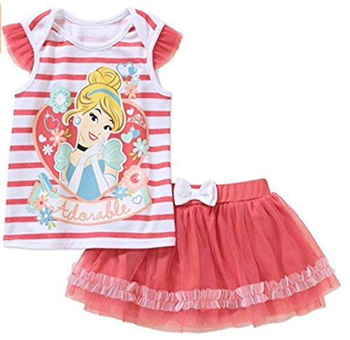 Disney Cinderella Baby Girls 2 Piece Scooter Set (3-6 Months) White, Pink
