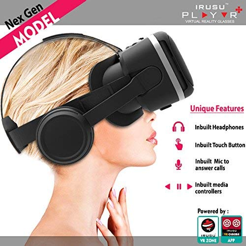 Irusu PLAY VR PLUS headset with headphones- touch...