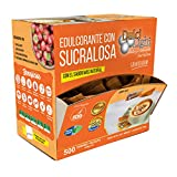 DULCILIGHT Sucralosa Edulcorante Natural 500 Sobres, Granulado con Dispensador Y fibra Vegetal.El sabor Natural del Azúcar