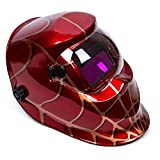 OHMOTOR Auto Darkening Solar Powered Welding Helmet Welders Mask Hood with Adjustable Shade