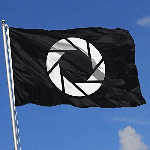 Niet van toepassing Outdoor Yard Flag,Camera Aperture Shutter Fotografie Grappige Familie Vlaggen Voor Welkom Decoratie 90x150cm