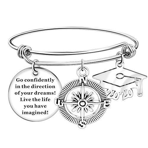 Grand Made Graduation Cap 2020 Armreif Geschenke Schmuck Erweiterbarer Draht Armreif Charme Verstellbares Armband Graduation Inspirationla Geschenk Schmuck für Mädchen