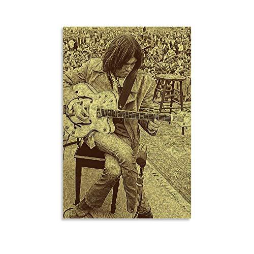 MMJH Neil Young The First Decade Leinwand Kunst Poster und Wandkunst Bilddruck Moderne Familienzimmer Dekor Poster 08x12inch(20x30cm)