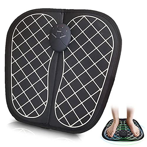 Schwarz Fußmassageräte EMS Fussmassagegerät Elektrisch Fußmassagegerät Massageauflage für Entspannung Wellness Tragbare Massage Matte für die Durchblutung Muskelschmerzen Linderung