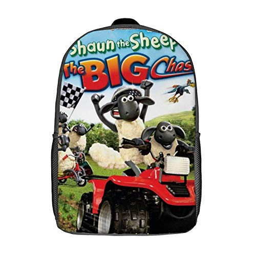 Shaun The Sheep Leisure backpack-17 inch Laptop Classic Backpack, Camping Backpack, Travel Outdoor Backpack, College School Bag