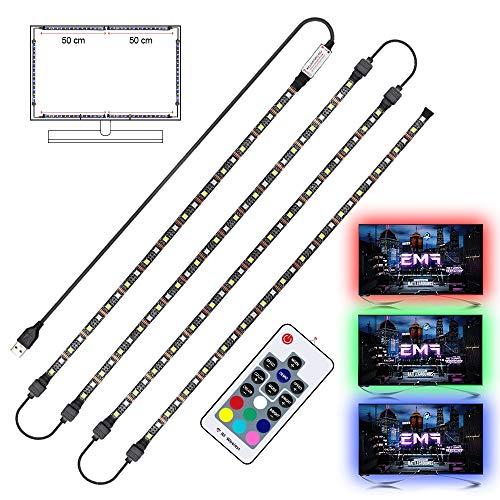 USB LED Strip RGB+White with RF Remote Controller Ip65 Waterproof Flexible Strip Light 5050 RGBW RGBWW TV Background Lightgting 0.5M