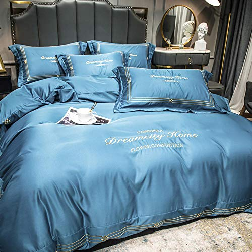CHOU DAN king size sommartäcke, dubbelsidig is silke slipsark bindande silke ski-sleeper kontinentala sängkläder-20 cm säng A-fyra set