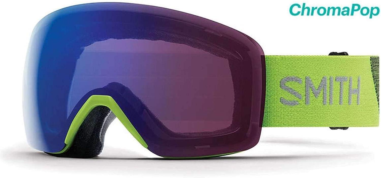 Smith Optics 2019 Men's Skyline Asian Fit Ski Goggle  Flash Frame ChromaPop Photochromic pink Flash Lens  SKY6CPZFLA19GA