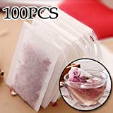 100Pcs/Lot Teabags Empty Tea Bags With String Heal Seal Filter Paper for Herb Loose Tea 301-0448 By Martial