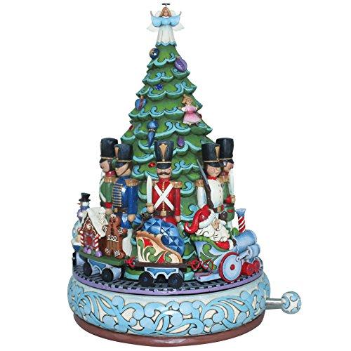 Enesco Heartwood Creek Oggetto Decorativo e Musicale Babbo Natale con Treno Musical, Resina,...