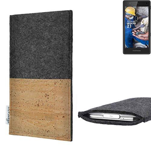 flat.design vegane Handy Hülle Evora kompatibel mit Fairphone Fairphone 2 Kartenfach Kork Schutz Tasche handgemacht fair vegan