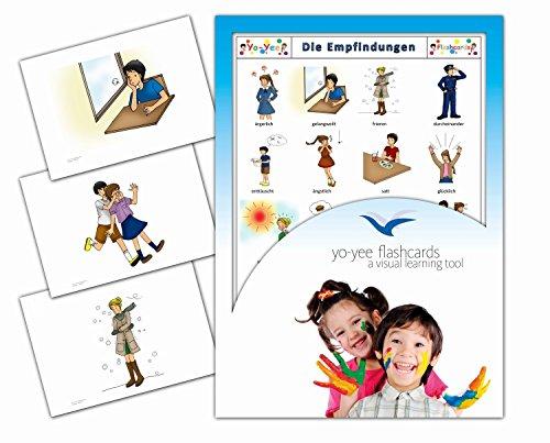 Bildkarten zur Sprachförderung - Grundwortschatz Gefühle, Emotionen und Empfindungen – Für Kinder und Erwachsene in Kita, Kindergarten, Grundschule, Logopädie, Autismus, Demenz und Therapie