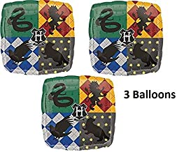 Anagram Harry Potter Birthday Balloons - 3 Pack Of Hogwarts Harry Potter Mylar Birthday Party Balloons