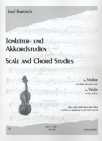 Tonleiter- und Akkordstudien Heft 1 für Violine