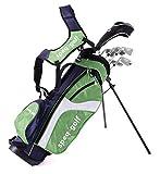 Speq - Medio Juego de Palos de Golf para niños, Color Azul Verde Verde, Azul Marino y Blanco Talla:1,30-1,45 m