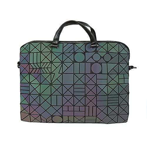 QIANJINGCQ, maletín luminoso colorido de moda para hombre, bolso diagonal para ordenador portátil, mochila de un solo hombro con diamantes para mujer